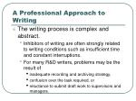 a professional approach to writing