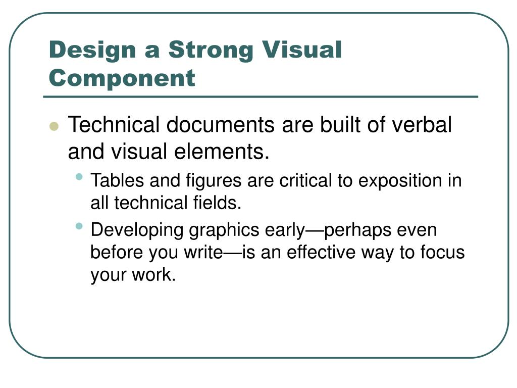 Design a Strong Visual Component