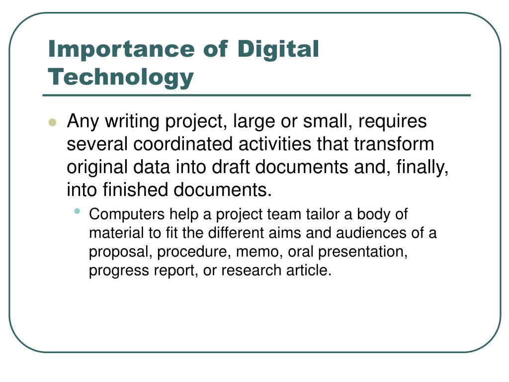 Importance of Digital Technology
