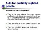 aids for partially sighted people12