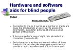 hardware and software aids for blind people6