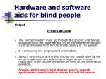 hardware and software aids for blind people8