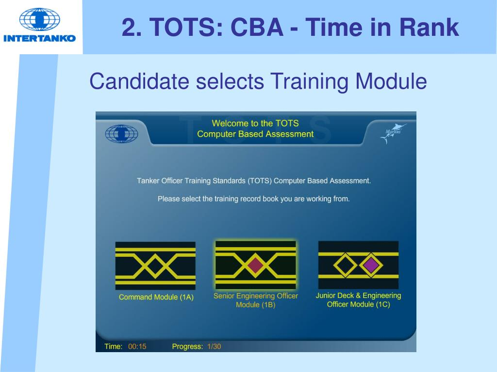 2. TOTS: CBA - Time in Rank
