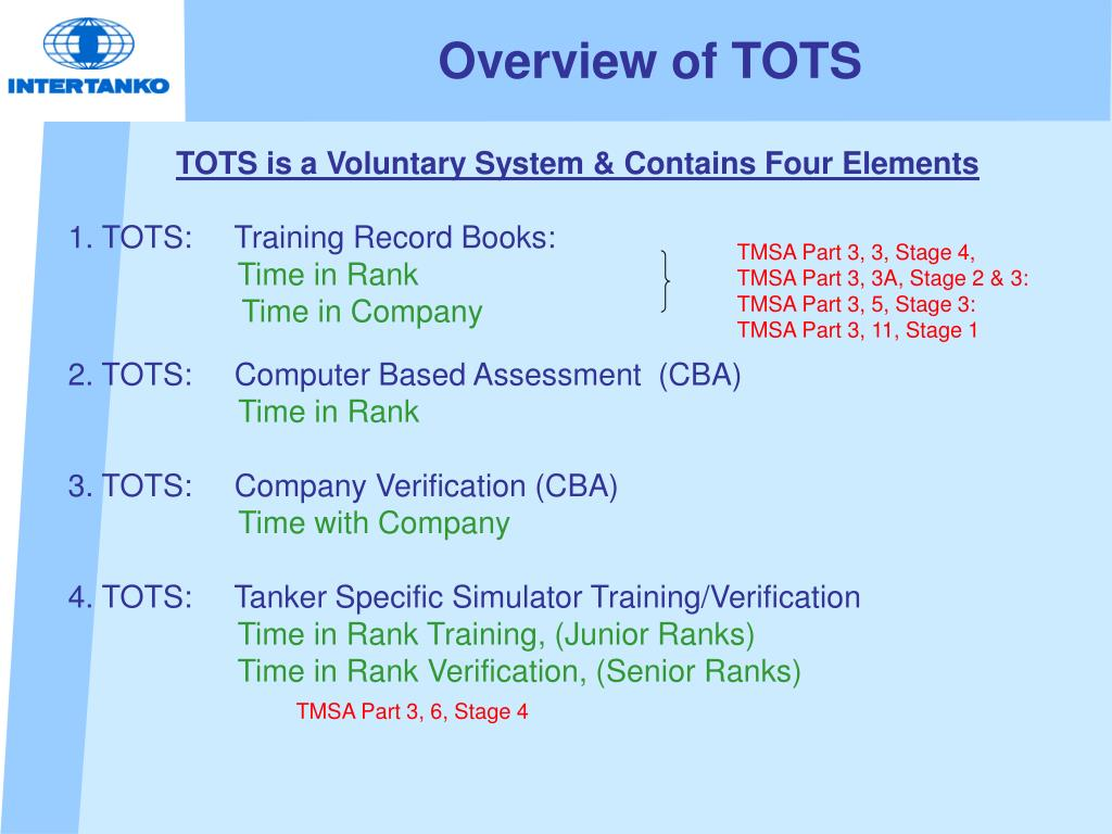 Overview of TOTS