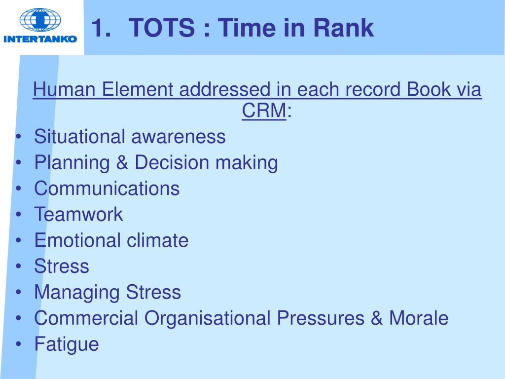 TOTS : Time in Rank