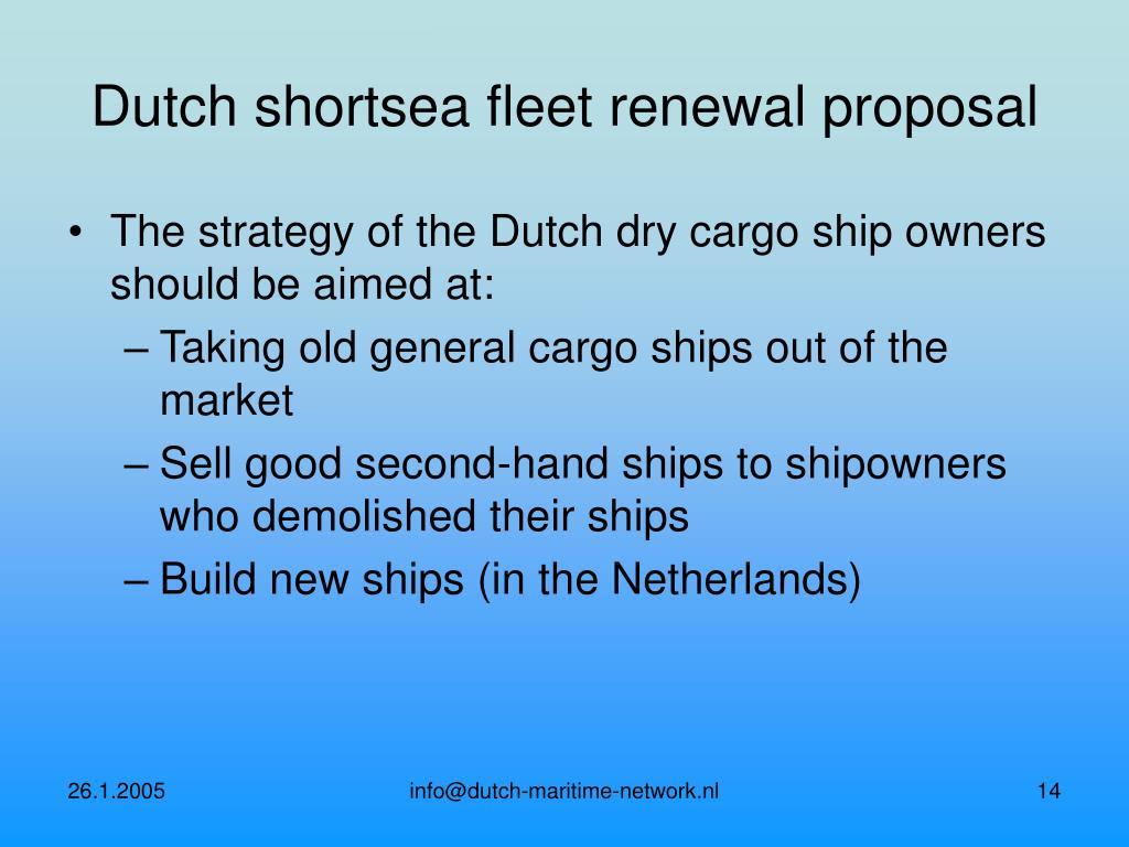 Dutch shortsea fleet renewal proposal