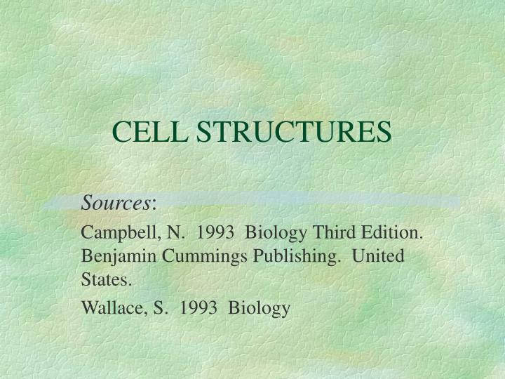 cell structures n.
