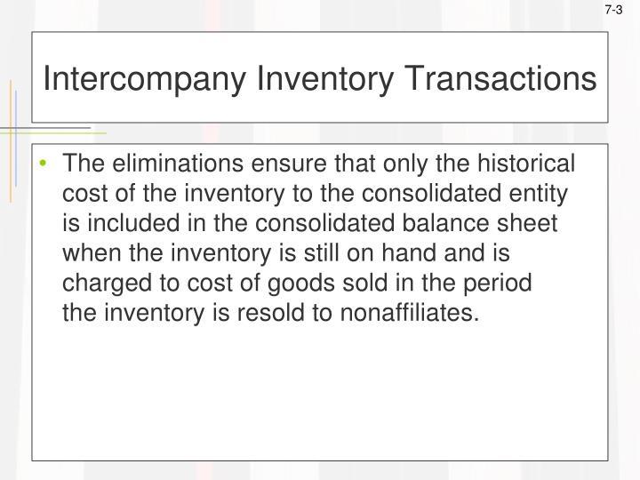 Intercompany inventory transactions3