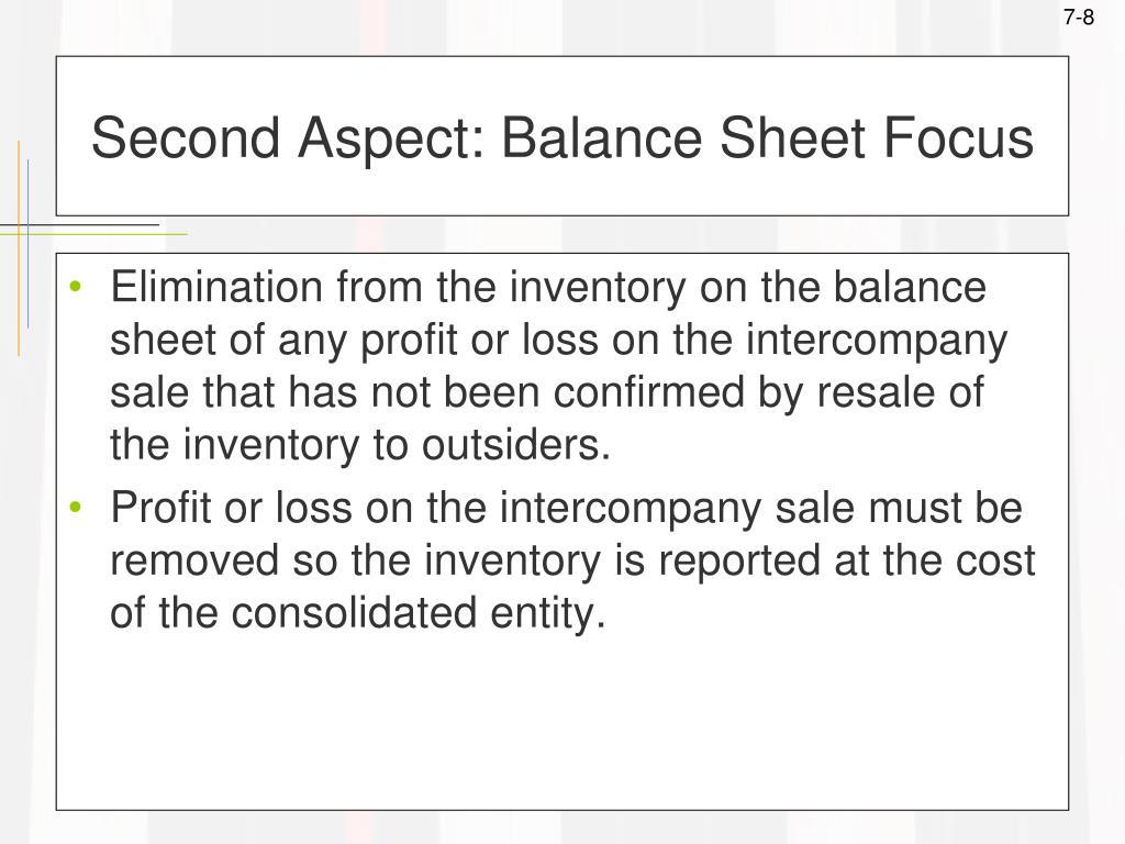 Second Aspect: Balance Sheet Focus