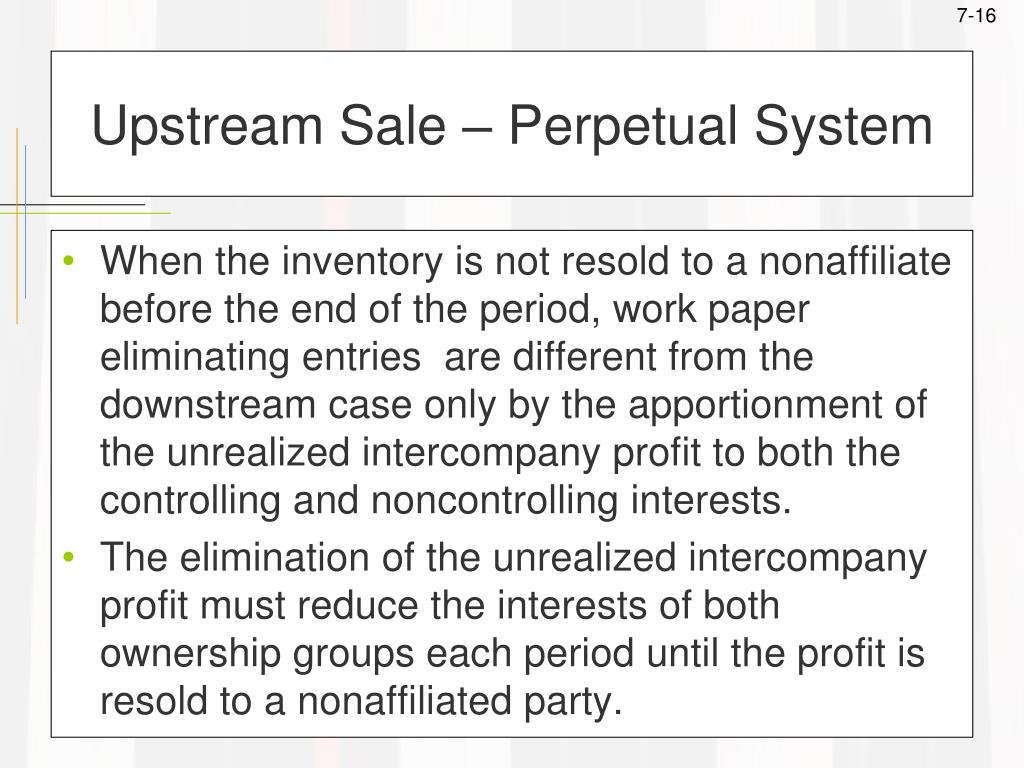 Upstream Sale – Perpetual System