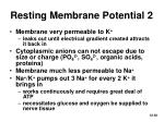 resting membrane potential 2
