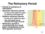 the refractory period