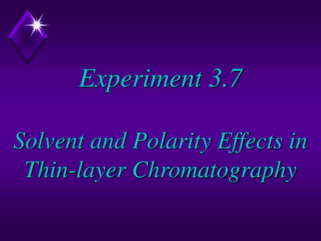 Experiment 3.7