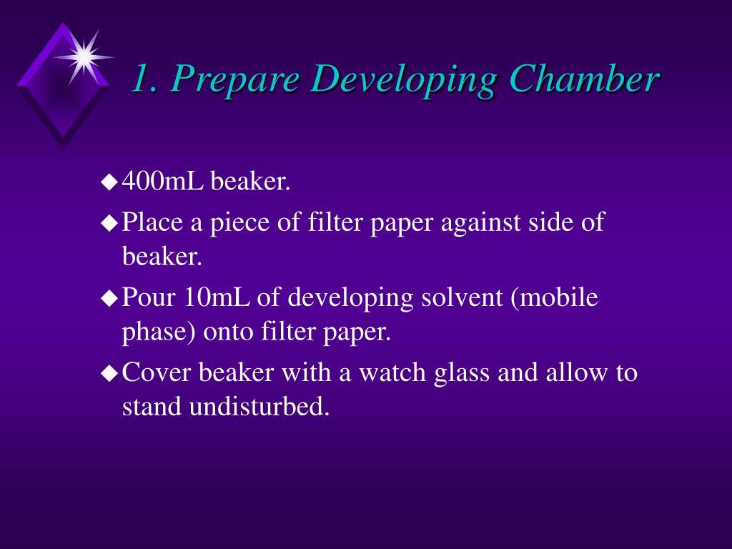 1. Prepare Developing Chamber