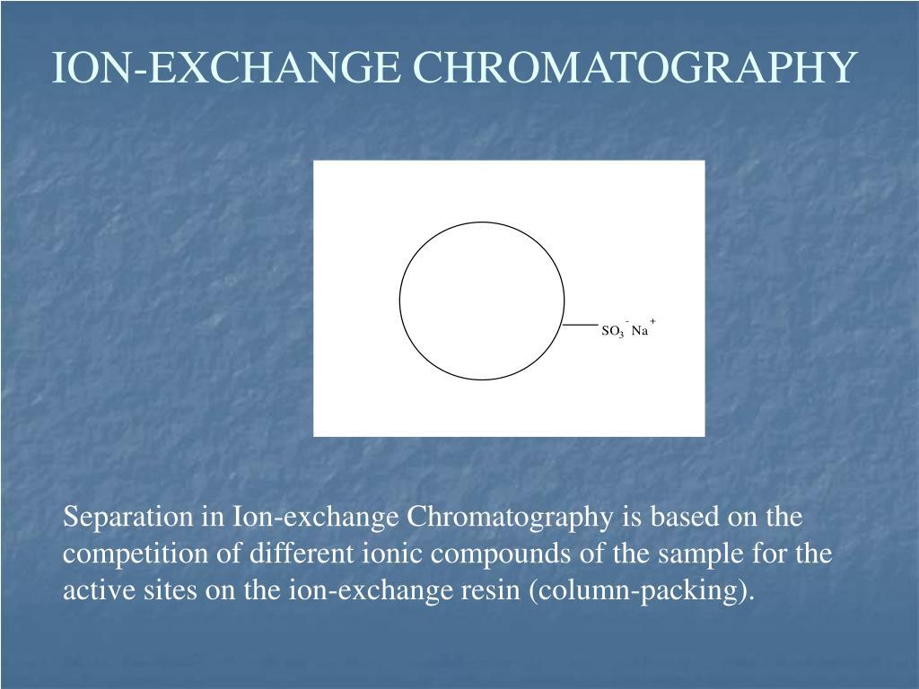 ION-EXCHANGE CHROMATOGRAPHY