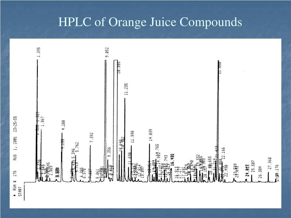 HPLC of Orange Juice Compounds