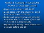 hardell carlberg international journal of oncology 2009