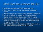 what does the literature tell us20
