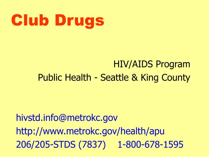 club drugs n.