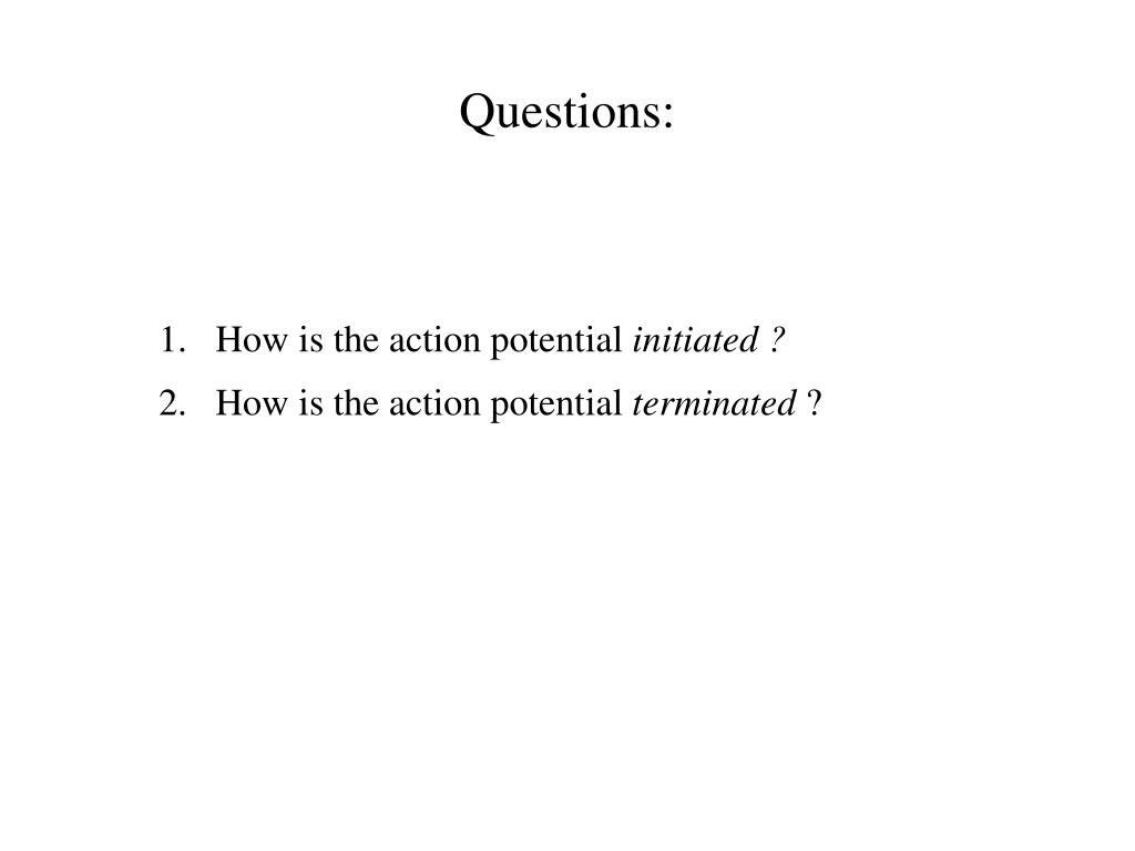 Questions: