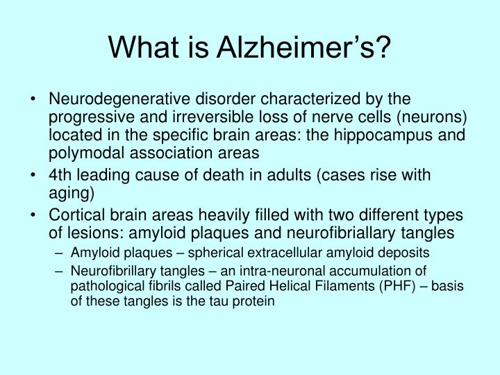 What is alzheimer s