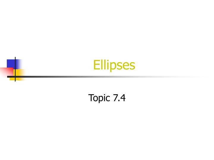 ellipses n.