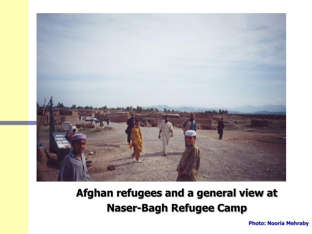 Afghan refugees and a general view at