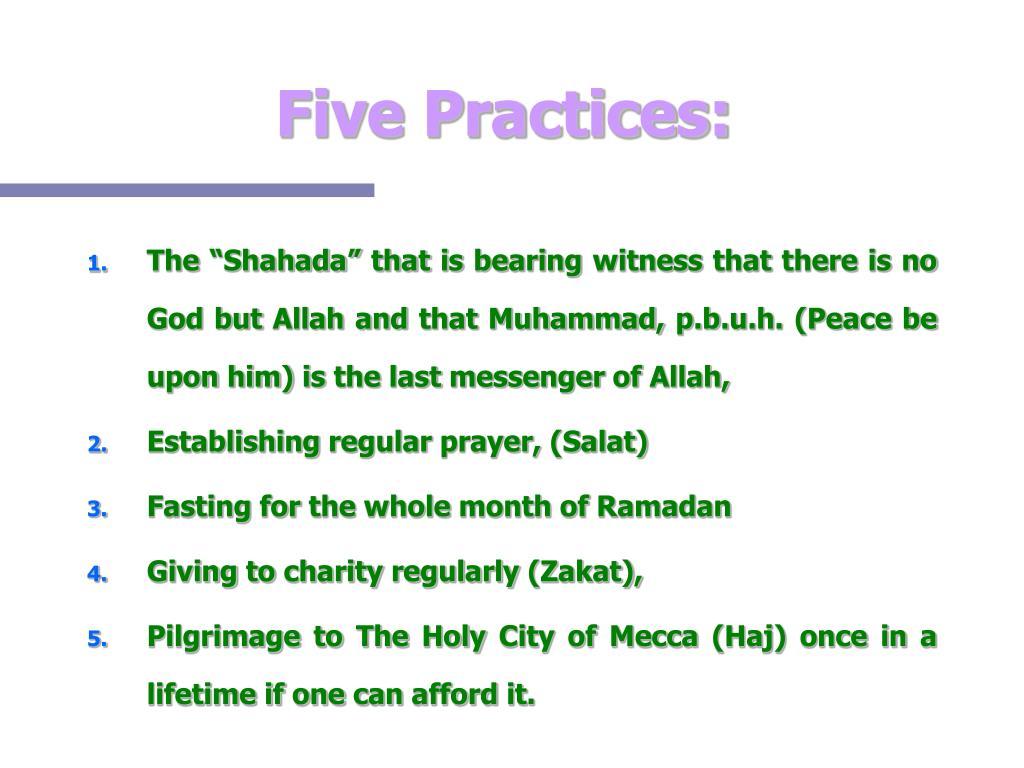 Five Practices:
