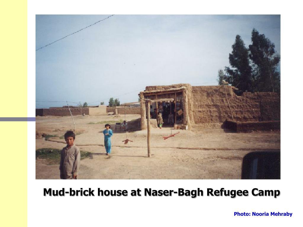Mud-brick house at Naser-Bagh Refugee Camp