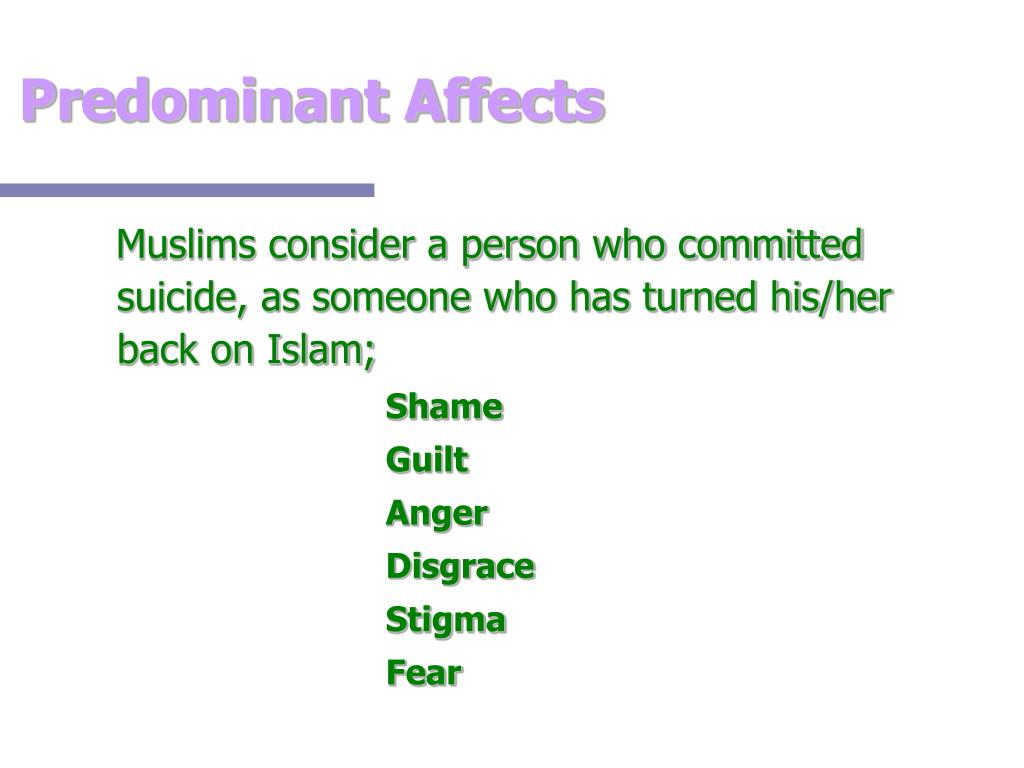 Predominant Affects