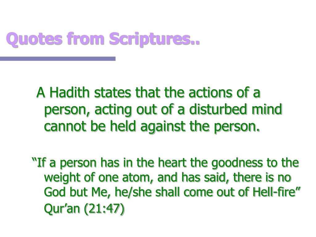 Quotes from Scriptures..
