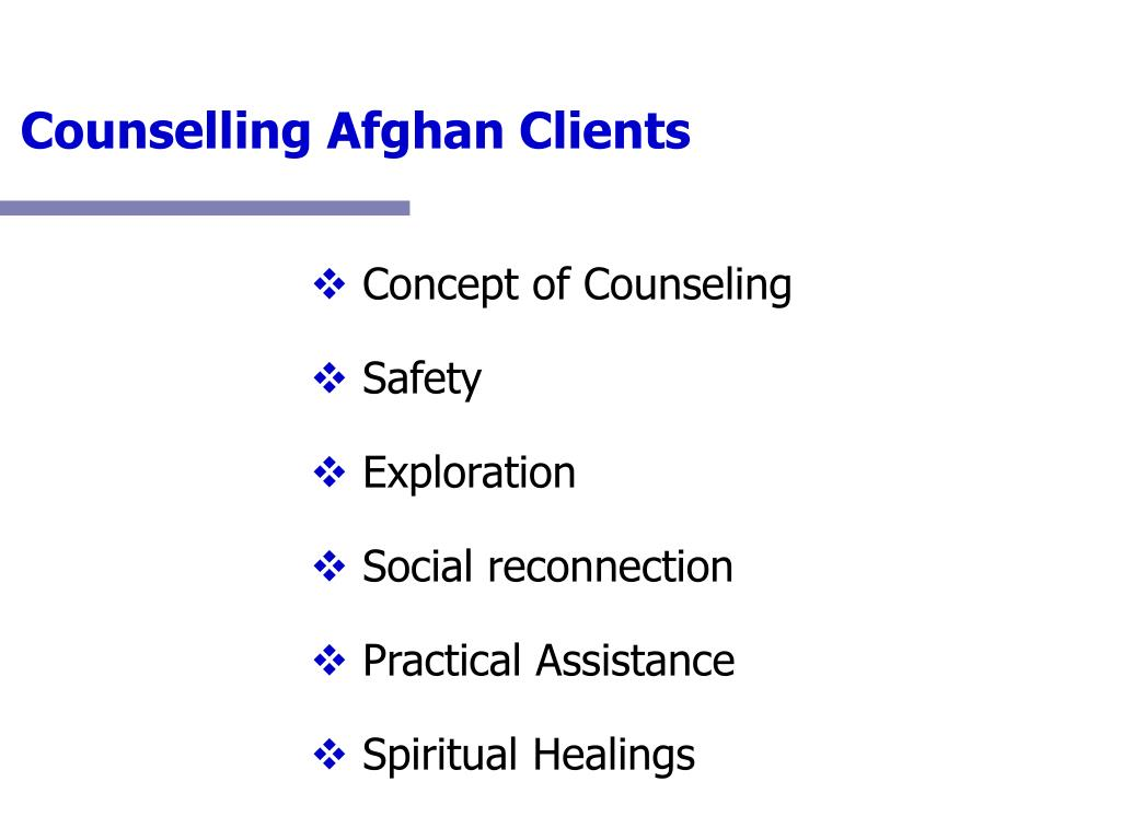 Counselling Afghan Clients