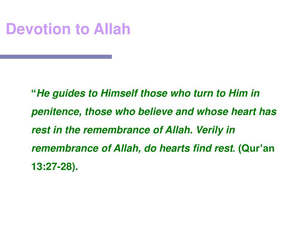 Devotion to Allah