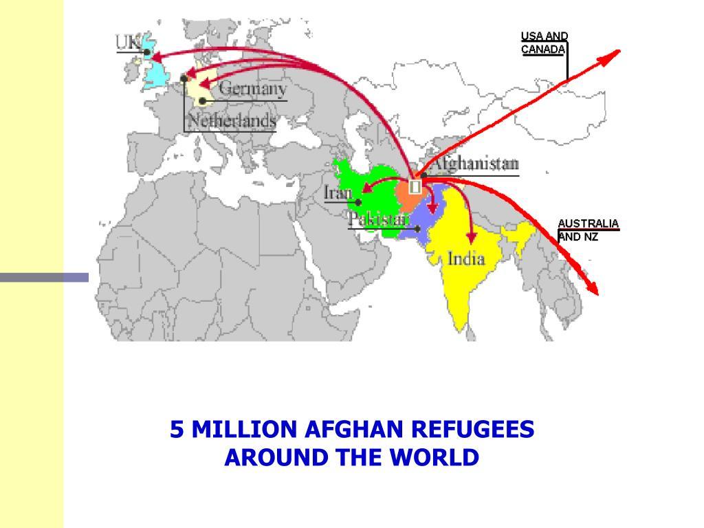 5 MILLION AFGHAN REFUGEES AROUND THE WORLD