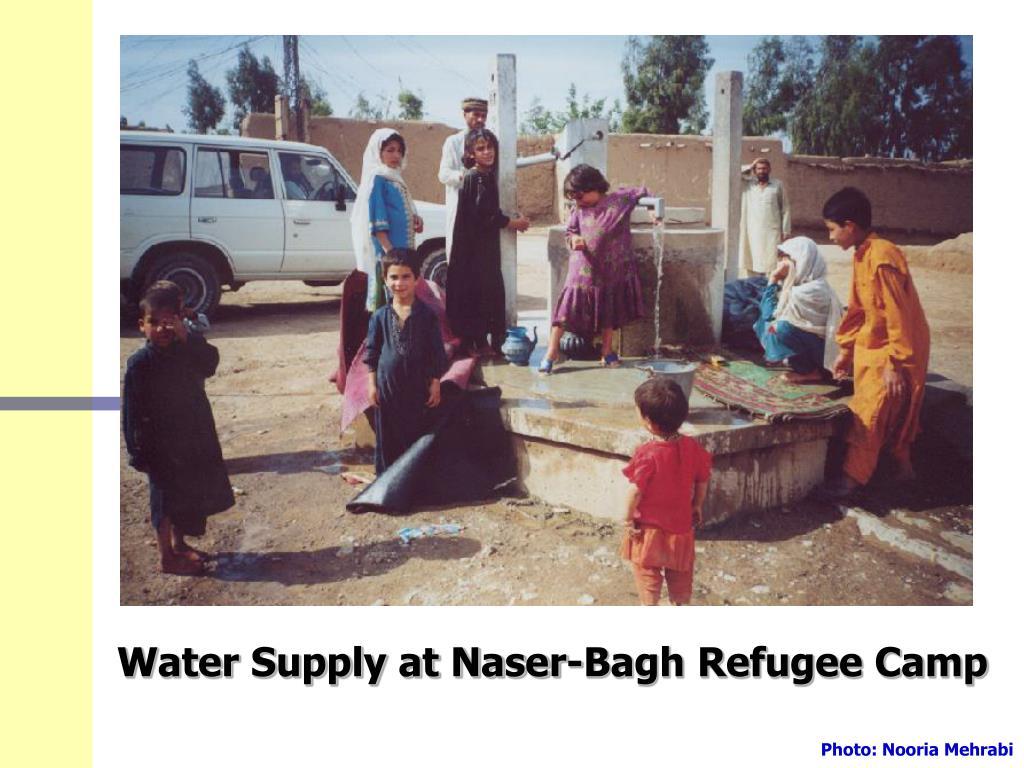 Water Supply at Naser-Bagh Refugee Camp