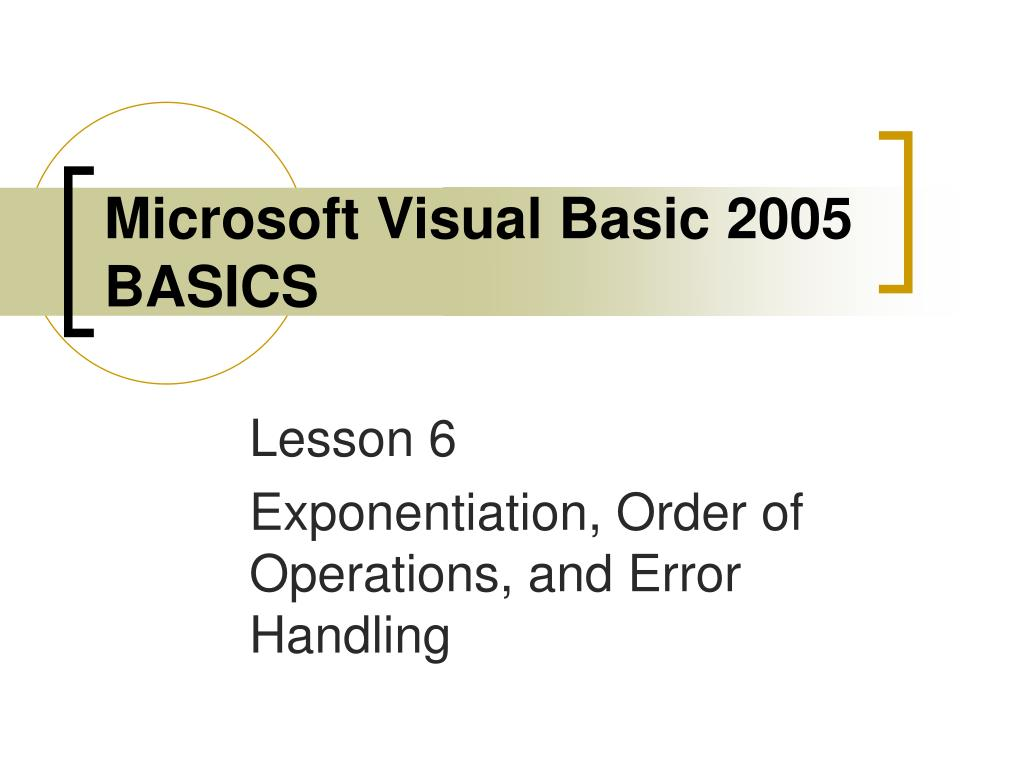 microsoft visual basic 2005 basics l.