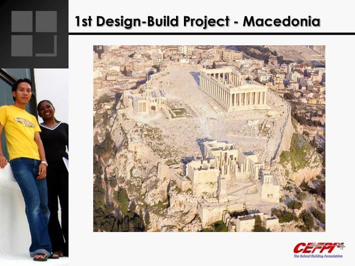 1st design build project macedonia