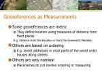 georeferences as measurements