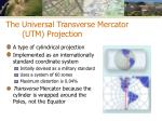 the universal transverse mercator utm projection