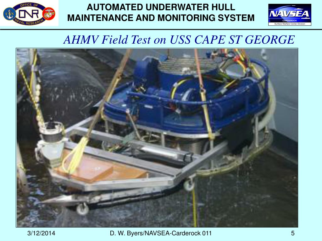 AUTOMATED UNDERWATER HULL MAINTENANCE AND MONITORING SYSTEM