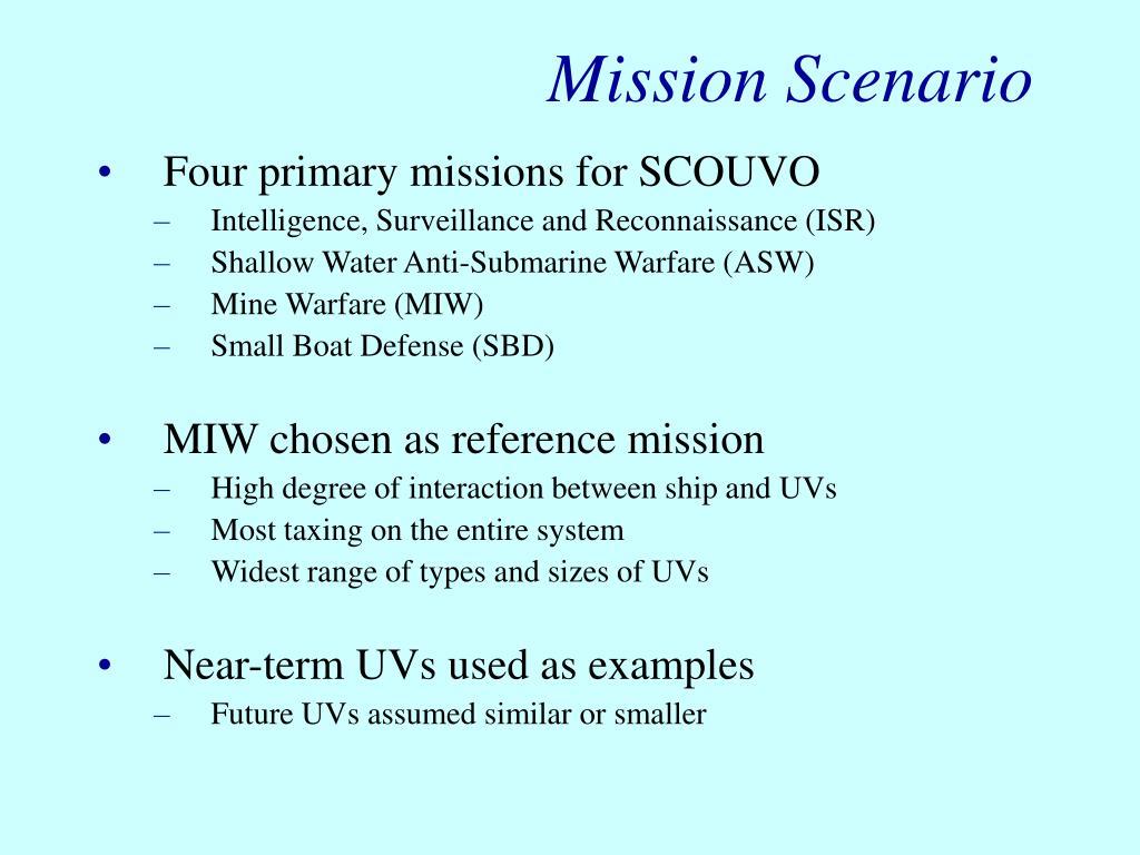 Mission Scenario