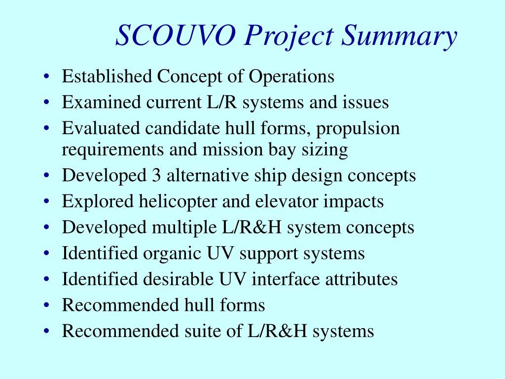 SCOUVO Project Summary