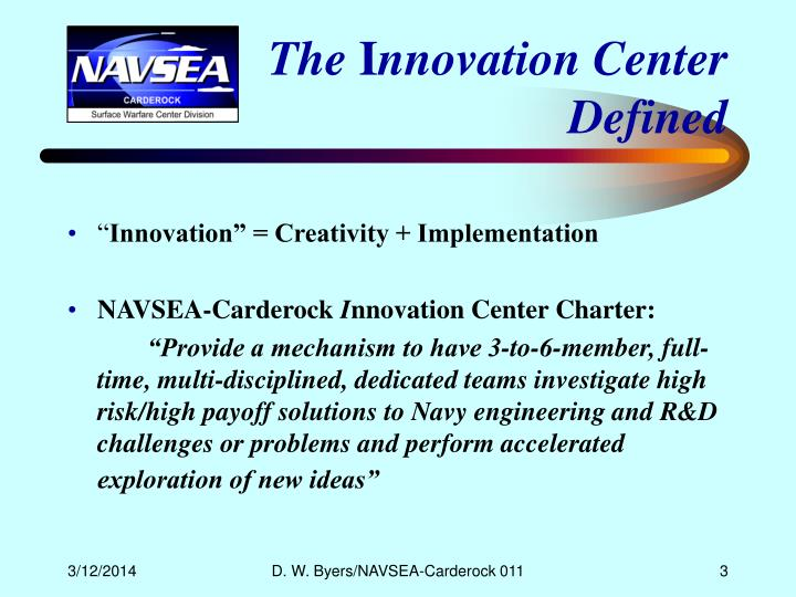 The i nnovation center defined