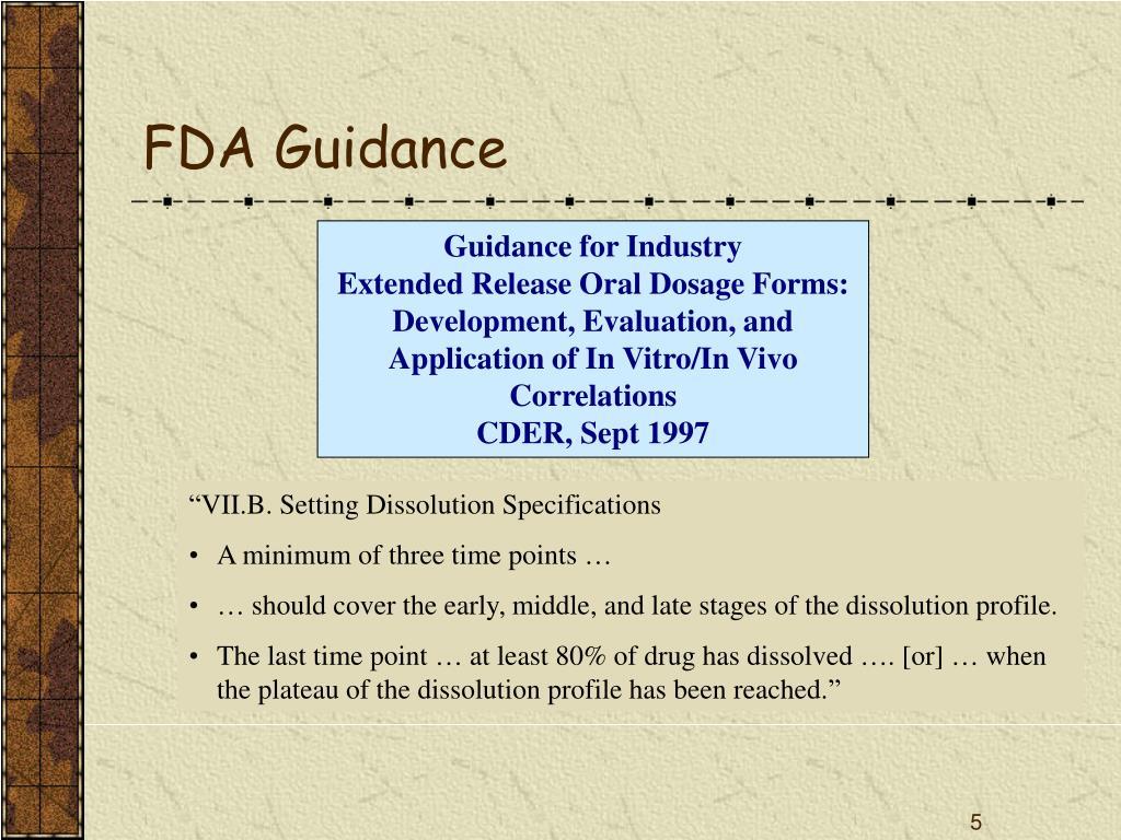 FDA Guidance