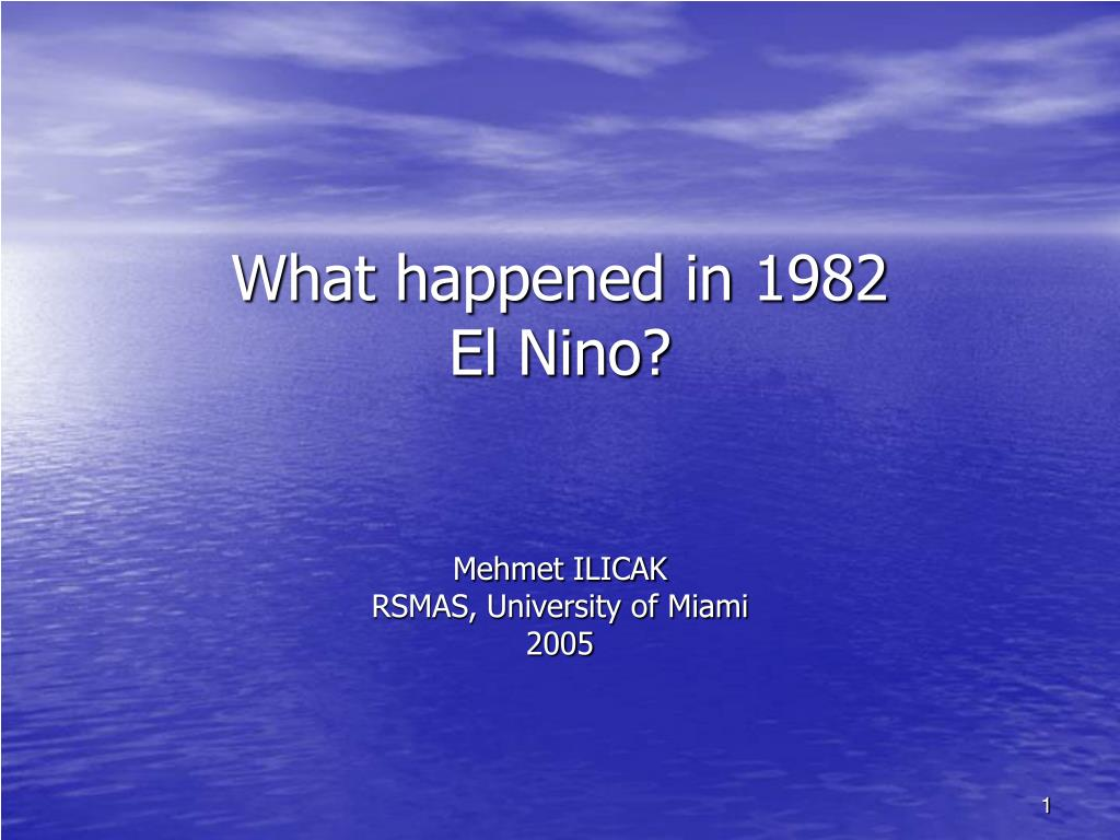 PPT - What happened in 21 El Nino? PowerPoint Presentation, free Throughout University Of Miami Powerpoint Template
