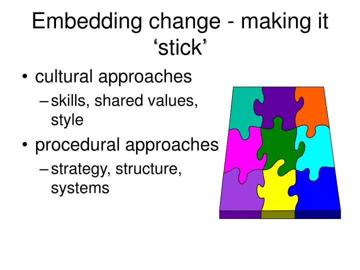 Embedding change making it stick