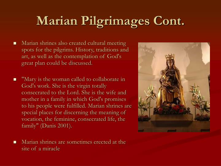 Marian Pilgrimages Cont.