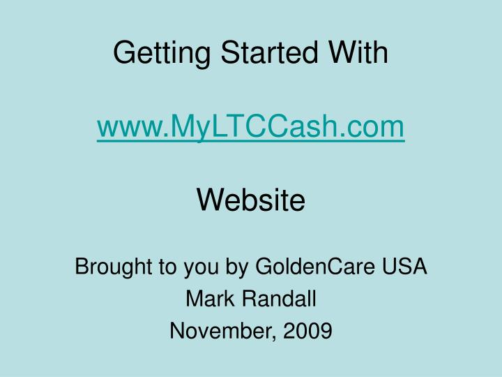 getting started with www myltccash com website n.