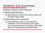 reliability qos guarantees