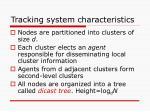 tracking system characteristics